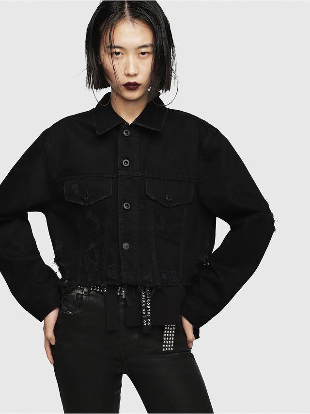 Diesel - DE-POPPY, Black Jeans - Denim Jackets - Image 1