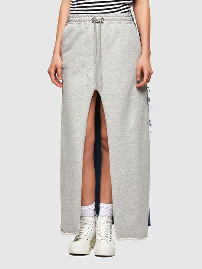 Diesel - O-LE, Grey/Blue - Skirts - Image 1