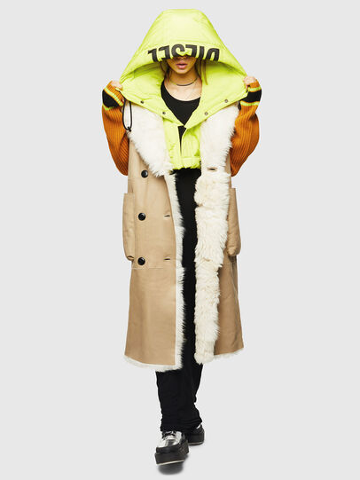 Diesel - L-IRTA, Beige - Leather jackets - Image 8
