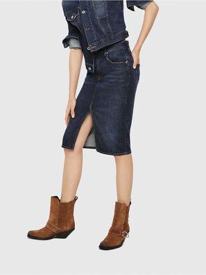 DE-PENCIL, Blue - Skirts