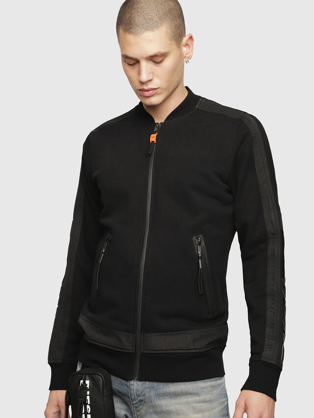 Diesel - S-ISAO-SW, Black - Jackets - Image 1