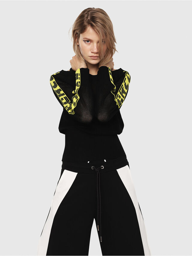 Diesel - M-NANCY, Black/Yellow - Knitwear - Image 4