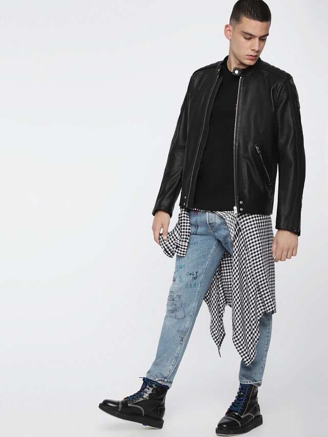 Diesel - L-QUAD, Black Leather - Leather jackets - Image 6
