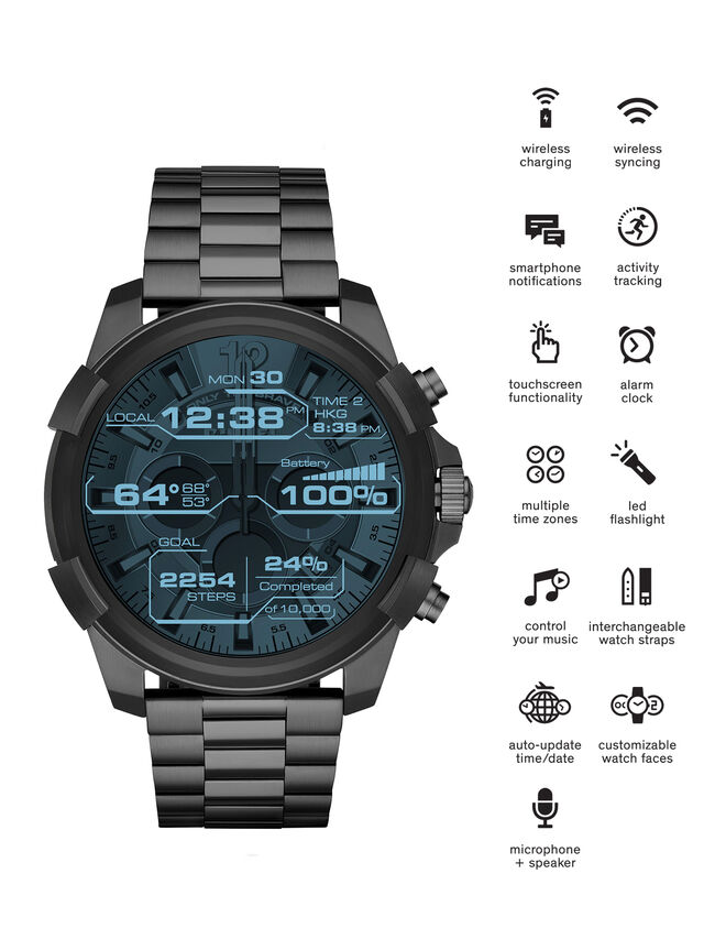 Diesel DT2004, Metal Grey - Smartwatches - Image 1