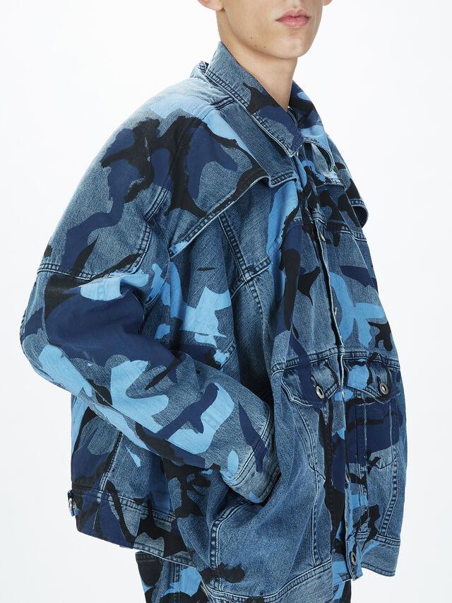 Diesel - SOJK01, Melange Blue - Jackets - Image 5