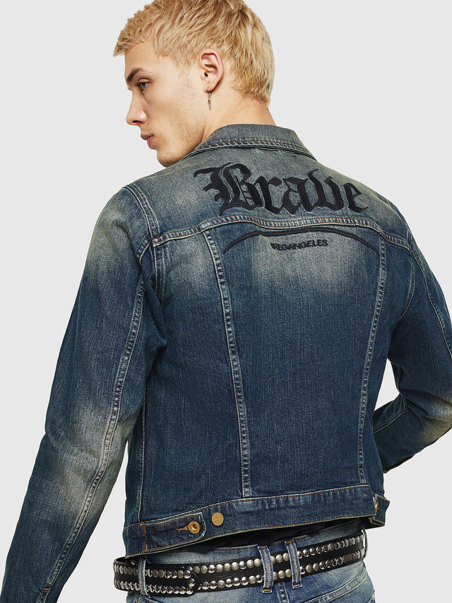 Diesel - D-GALY, Dark Blue - Denim Jackets - Image 2