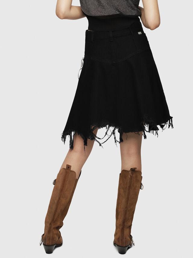 Diesel - DE-FRINSKIRT-P, Black Jeans - Skirts - Image 2