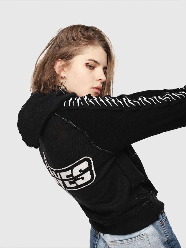 Diesel - M-CUTS, Black/White - Knitwear - Image 5