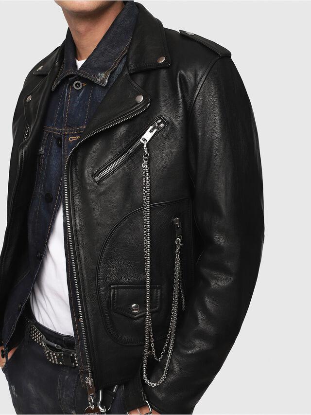 Diesel - CL-L-KIOV, Black Leather - Leather jackets - Image 4
