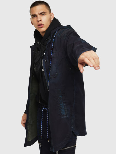 Diesel - D-SIMILAR JOGGJEANS, Dark Blue - Denim Jackets - Image 6
