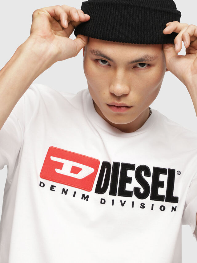 Diesel - T-JUST-DIVISION, White - T-Shirts - Image 3