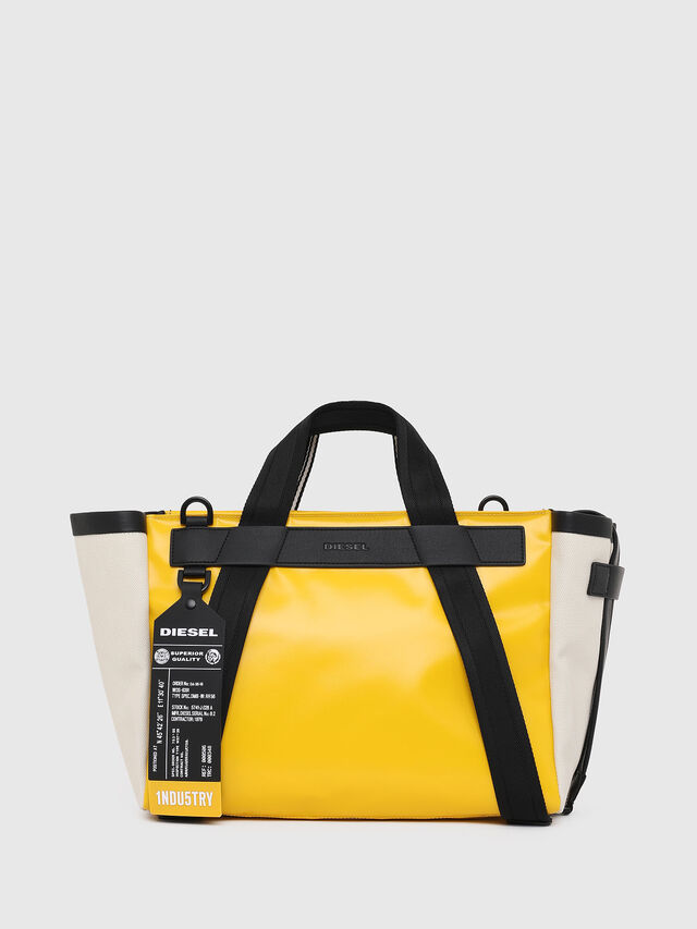 Diesel - F-CAORLY SATCHEL M, Yellow - Bags - Image 1
