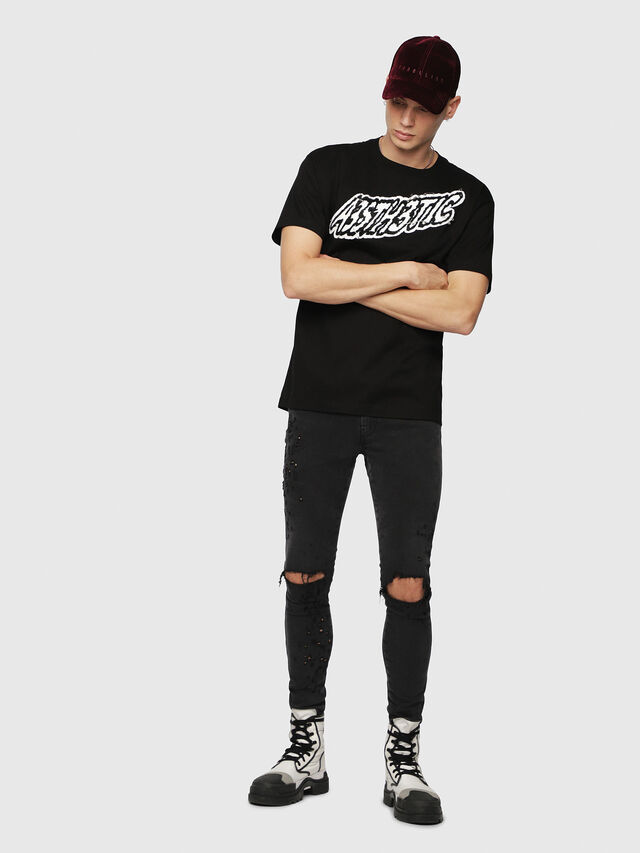 Diesel - T-WALLACE-YC, Black - T-Shirts - Image 4