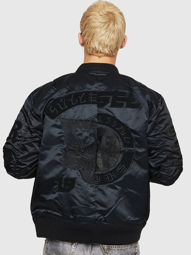 Diesel - J-IWAHO-LIGHT, Black - Jackets - Image 2