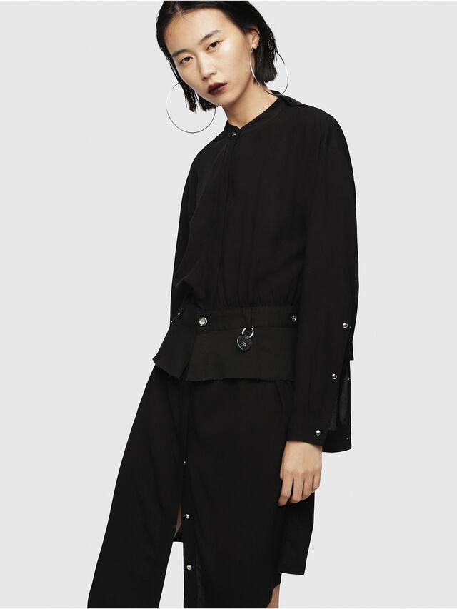Diesel - D-YAE, Black - Dresses - Image 1