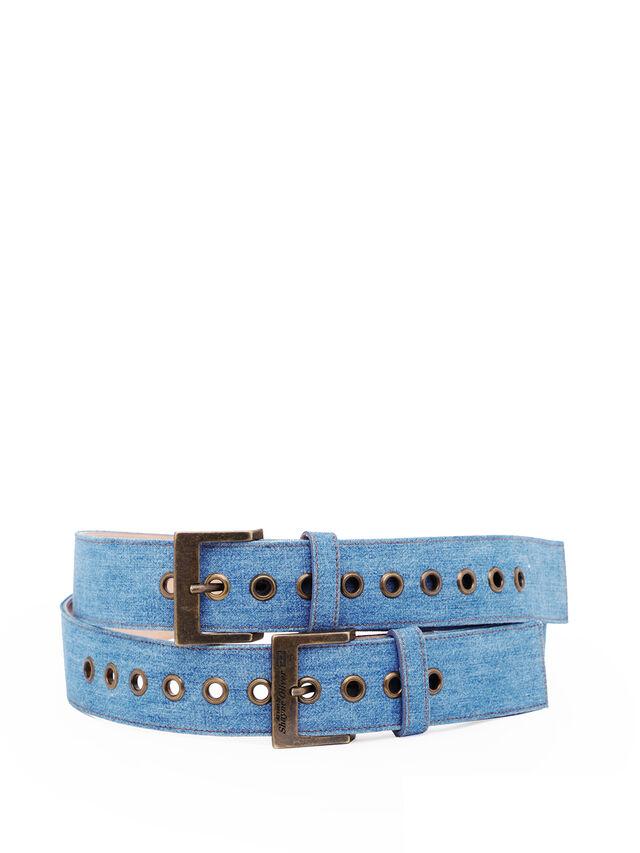 Diesel - SOBELT1, Blue Jeans - Belts - Image 1
