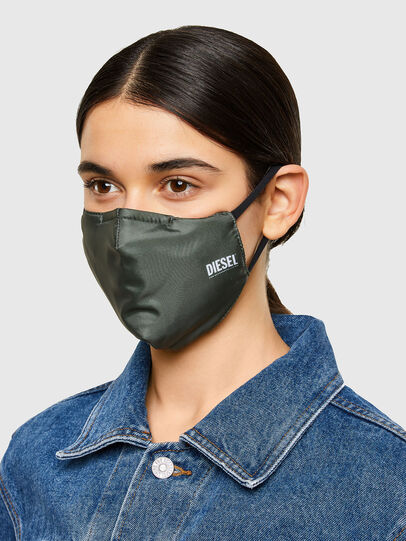 Diesel - FACEMASK-PLAIN-SS21, Military Green - Other Accessories - Image 3