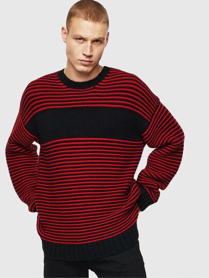 Diesel - K-BALLIS, Red/Black - Knitwear - Image 1