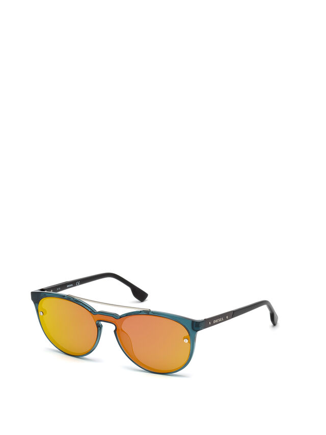 Diesel DL0216, Blue/Orange - Eyewear - Image 4