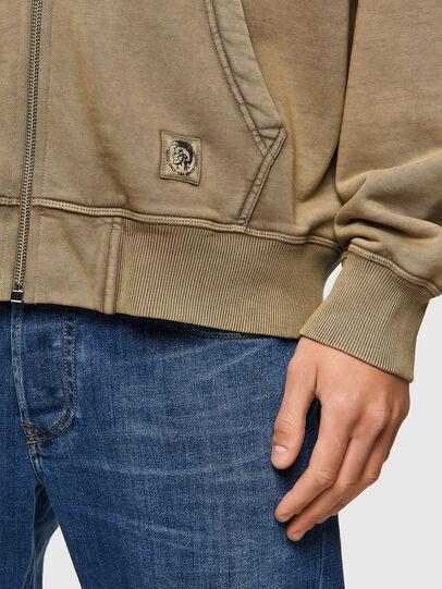 Diesel - S-GIRK-HOOD-ZIP-MOHI, Light Brown - Sweaters - Image 4