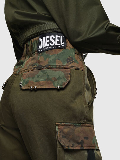 Diesel - P-THENA-A, Green Camouflage - Pants - Image 2