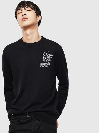 Diesel - CL-K-DEBNAM, Black - Knitwear - Image 1