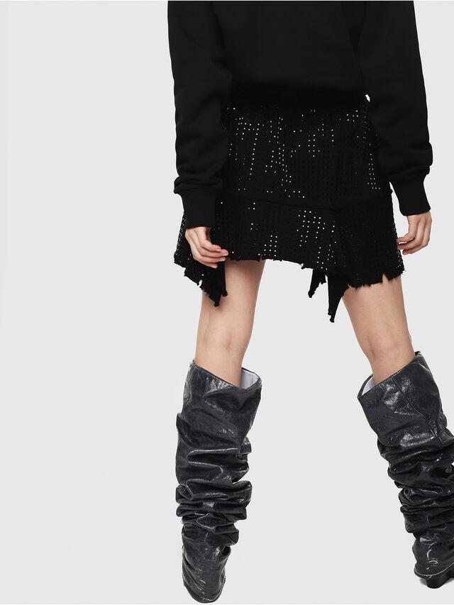 Diesel - O-CRYS, Black - Skirts - Image 2
