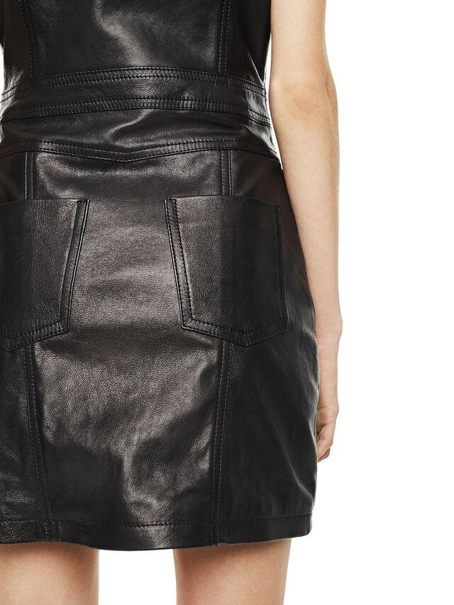 Diesel - DAFFIE, Black Leather - Leather dresses - Image 3