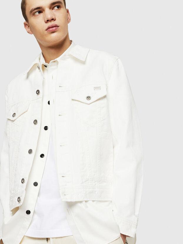 D-BRAY, White - Denim Jackets