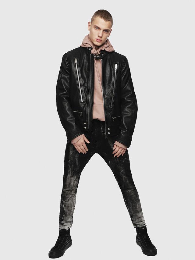 Diesel - L-KOJI, Black - Leather jackets - Image 4