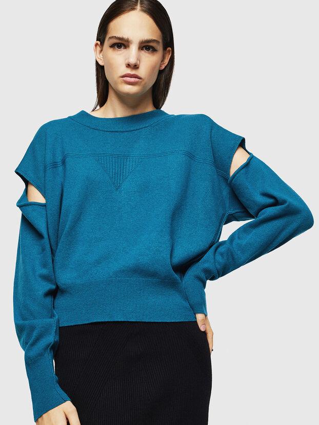 M-CRISTAL, Blue Marine - Knitwear