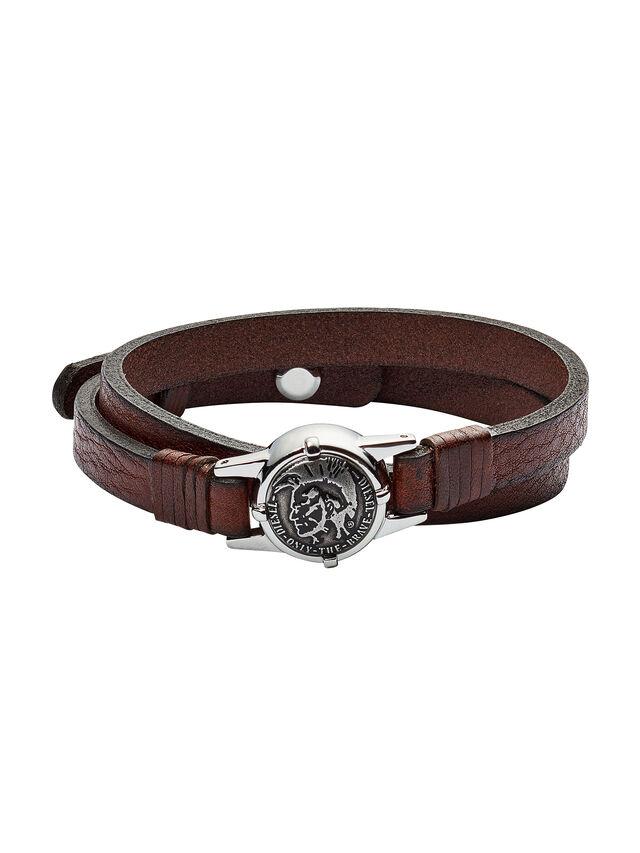 Diesel - BRACELET DX1051, Brown - Bracelets - Image 1