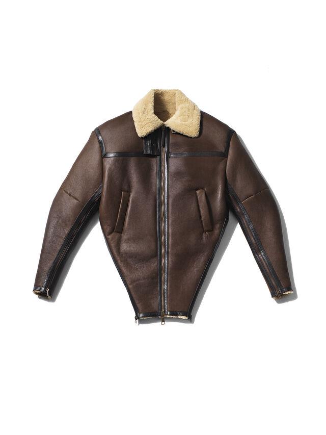 Diesel - GMLT01, Brown - Leather jackets - Image 1