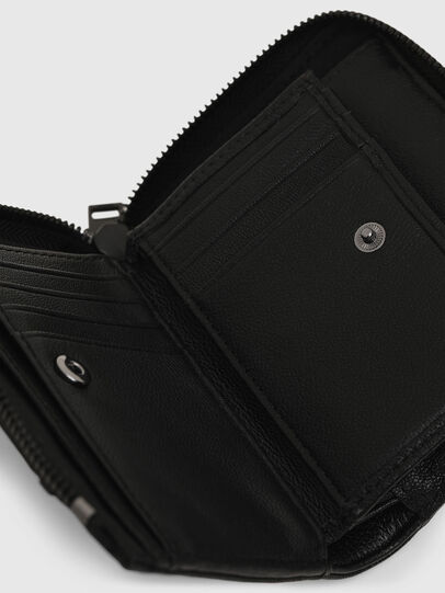 Diesel - L-12 ZIP, Black - Zip-Round Wallets - Image 5