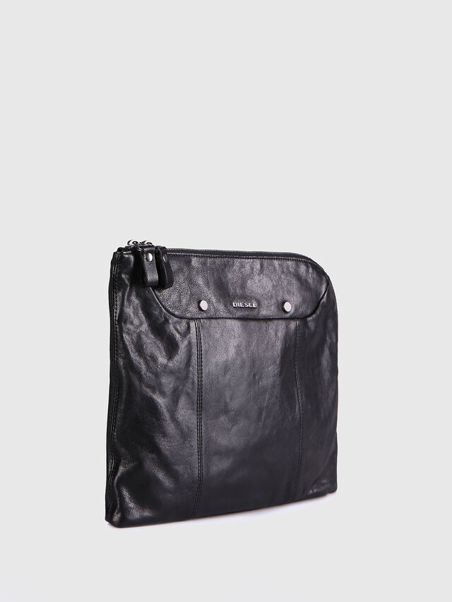 L-L4CLUTCH, Black Leather