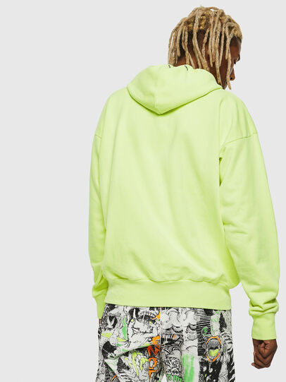 Diesel - S-ALBY-FLUO, Yellow Fluo - Sweaters - Image 3