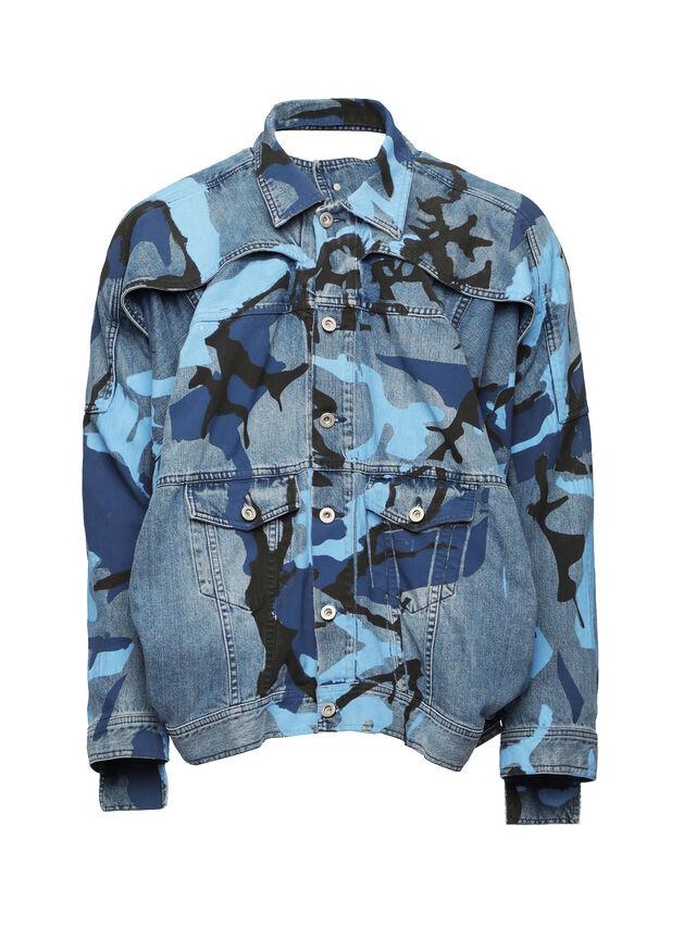 Diesel - SOJK01, Melange Blue - Jackets - Image 1