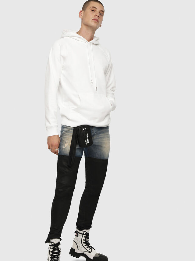 Diesel - S-GIM-HOOD-A, White - Sweaters - Image 4