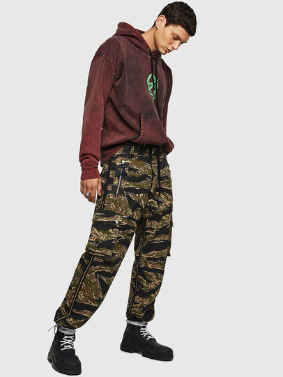 Diesel - P-LUZAVIC-TIGERCAM, Military Green - Pants - Image 2