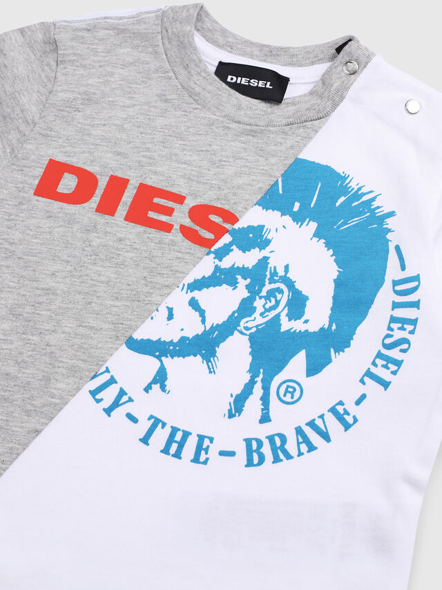Diesel - TICAB, White/Grey - T-shirts and Tops - Image 3