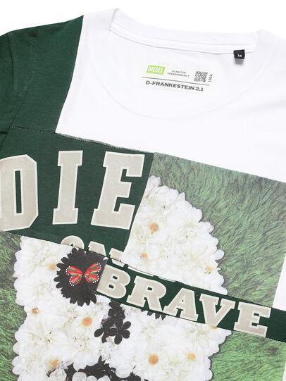 Diesel - D-FRANKENSTEIN 2.1, White/Green - T-Shirts - Image 3