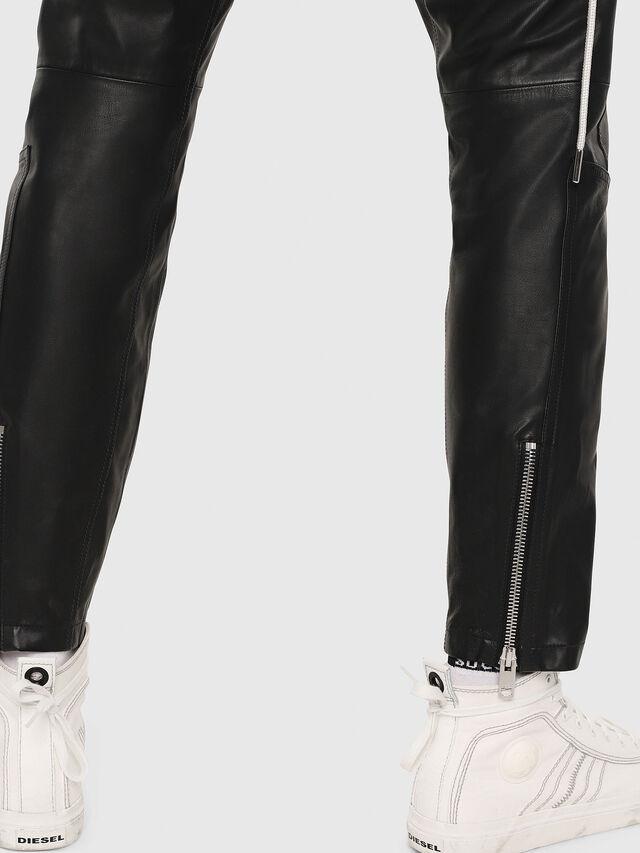 Diesel - P-ARDON, Black Leather - Pants - Image 5