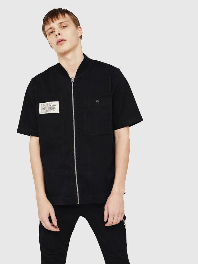 Diesel - S-DRINA, Black - Shirts - Image 4