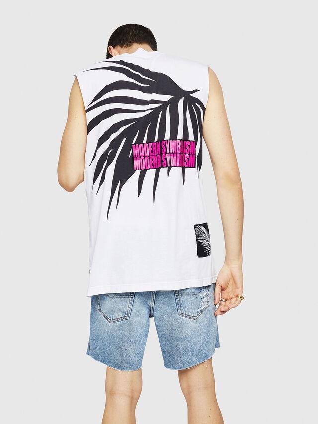 Diesel - T-YOSHIMI-SL, White/Black - T-Shirts - Image 2