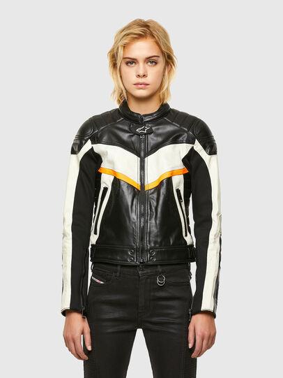Diesel - ASTARS-LQUATTRO-B, Black - Leather jackets - Image 1