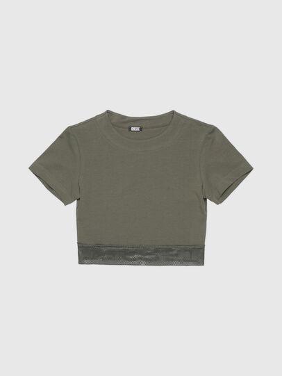 Diesel - UFTEE-GIORGMESH-SV, Military Green - T-Shirts - Image 1