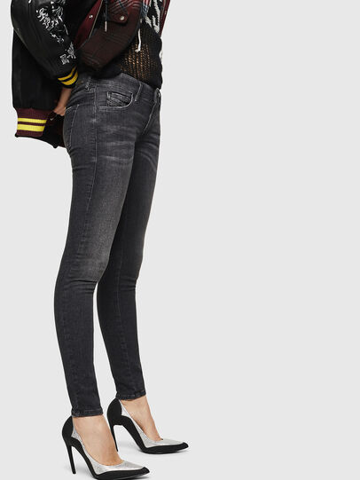Diesel - Slandy Low 083AI, Black/Dark grey - Jeans - Image 4
