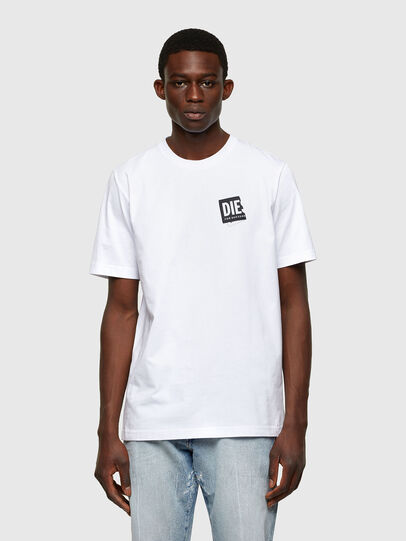 Diesel - T-JUST-LAB, White - T-Shirts - Image 1