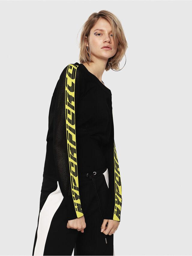 Diesel - M-NANCY, Black/Yellow - Knitwear - Image 3
