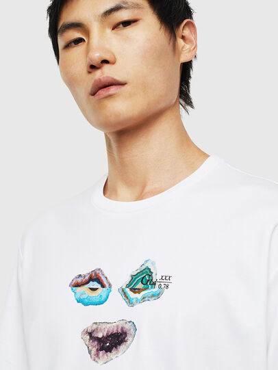 Diesel - TEORIALE-A, White - T-Shirts - Image 3